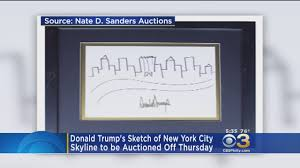donald trump u0027s sketch of nyc is auctioned off youtube