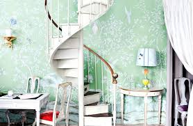 hand painted wall murals staircase traditional with chinoiserie