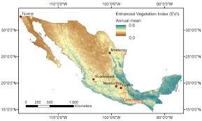 Map Of Oaxaca Mexico by Mexico Helmholtz Centre For Environmental Research