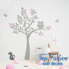 compare prices tree wall decal sticker online shopping buy low large owl tree wall decal stickers with birds squirrels baby nursery bedroom decor size