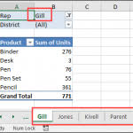 how to create an excel pivot table from multiple sheets