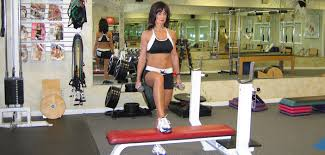 Bench Exercises With Dumbbells Dumbbell Bench Step Ups Exercise Guide With Photos