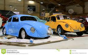 yellow volkswagen beetle royalty free two volkswagen beetle retro cars editorial image image 41887855