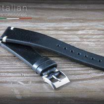 pelle vacchett cinturino pelle vacchetta 20 mm nero cuc rosse ls cuoio for