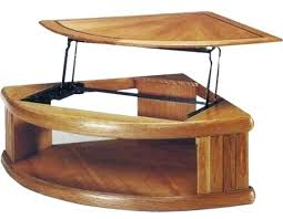 corner wedge lift top coffee table wedge coffee table with lift fit for home design attractive 12