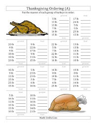 thanksgiving activity printables ravishing comparing turkey numbers to 50 a math worksheets