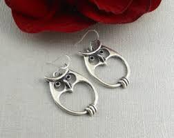 owl earrings cyber monday sale silver owl earrings owl earrings owl jewelry