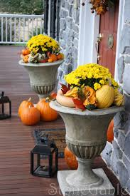 Outdoor Decorations For Fall - outdoor fall decor urn front doors and doors