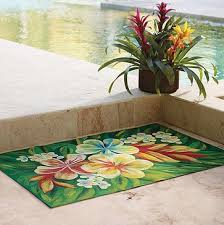 Frontgate Outdoor Rugs Tropical Floral Rugs Tropical Flower Indoor Outdoor Rug 5 U0027 X 8