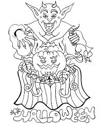 print really scary halloween coloring pages or download really