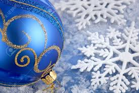 Christmas Decorations Blue And Gold by Seasonal Arrangement With Blue Gold Bauble And Beautiful
