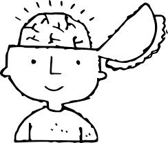 brain coloring page paginone biz
