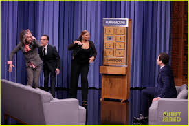 video jimmy fallon plays humannequins with queen latifah wayne