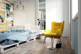 decorations stunning blue and yellow scandinavian style bedroom