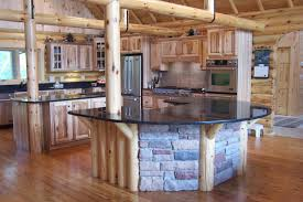 Log Home Kitchen Cabinets - log home kitchen fpudining norma budden