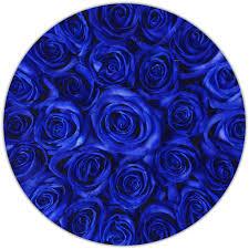 white and blue roses medium box white blue the million roses london
