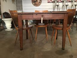 french antique dining table or desk in sold vitrine