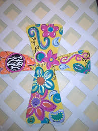 wooden crosses for crafts painted wooden crosses craft ideas painted crosscanvas ideas