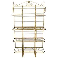 Bakers Rack Shelves French Iron And Brass Bakers Rack Bakers Rack Furniture Storage