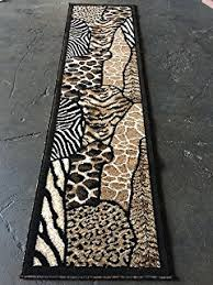 Leopard Runner Rug Wildlife Themed Area Rug Lodge Animal
