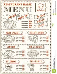 snack bar menu template catering menu template