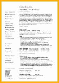 Teacher Resumes Examples by Substitute Teaching Resume Formats Csat Co