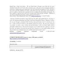 Basketball Resume Laurence Edward Donelson Iii Professional Basketball Resume