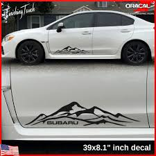subaru window decals mountain graphic subaru decal vinyl mountains quality oracal