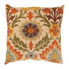Orange Pillows For Sofa by Pillow Perfect Santa Maria 18 Inch Adobe Throw Pillow Free