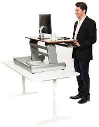 Standing Desk On Top Of Existing Desk 10 Best Sit Stand Desks Self Thrive