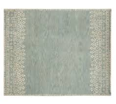 Pottery Barn Rugs Clearance Desa Bordered Wool Rug Blue Pottery Barn For The Home