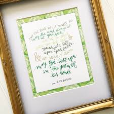 irish blessing 8x10 hand lettered modern calligraphy print