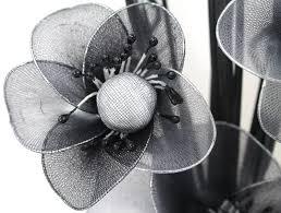 flourish 705947 813 silver vase with black and white nylon