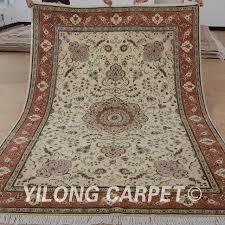 Modern Wool Rug Yilong 6 X9 Belgium Wool Carpet Handmade Exquisite