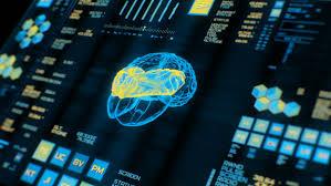 futuristic holographic screen technology of future concept