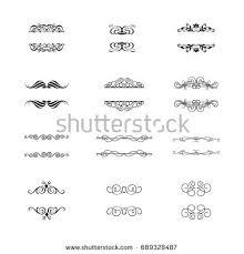 flourishes calligraphic ornaments frames retro style stock vector