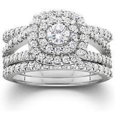 Wedding Ring Trio Sets by Engagement U0026 Wedding Ring Sets Ebay