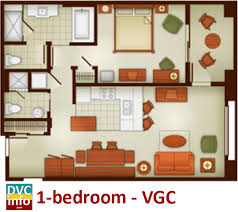 Bay Lake Tower One Bedroom Villa Floor Plan The Villas At Disney U0027s Grand Californian Hotel U0026 Spa Dvcinfo Com