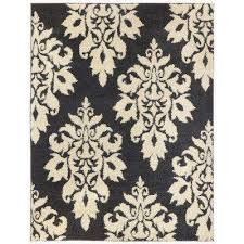 Black And Beige Rug Flame Retardant Area Rugs Rugs The Home Depot