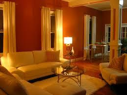 orange livingroom burnt orange living room high end miami flavor walls were