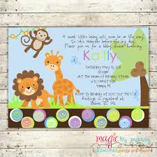 free baby shower invitation templates jungle animals bridal