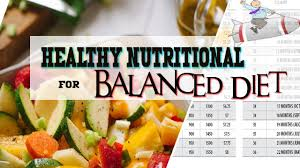 best way to maintain balanced diet for healthy nutritional