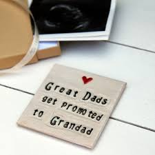 great dads get promoted to great dads get promoted to grandad ceramic coaster ceramic gifts