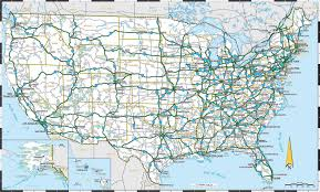 Map Of The 50 United States by Interstate Highway Map Of United States Highway Map Of United