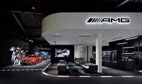 amg stand for mercedes standalone mercedes amg showroom opens in