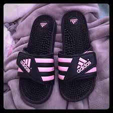 light pink sandals women s adidas shoes sandals womens size 7 pink and black poshmark