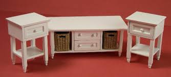 Ashley End Tables And Coffee Table Discontinued S Lee U0027s Line Dollhouse Furniture Ashley White Living