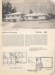 Split Level Homes Plans Vintage House Plans Huge Mid Century Modern 4 Bedroom Split