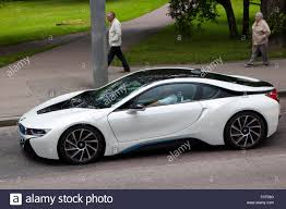 bmw 2015 model cars the 2015 model bmw i8 in hybrid sports car in white driving