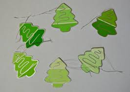 making christmas tree gift tags from paint swatches thriftyfun